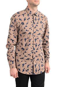 "Hugo Boss Men's ""Ismo"" Slim Fit Geometric Print Dress Shirt 16 17 17.5"