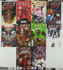 10x DEADPOOL KILLS THE MARVEL UNIVERSE AGAIN Comic SET # 1 2 3 4 5 Reg & VARIANT