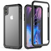 360° Protection Full-body Rugged Clear Bumper Case Cover For iPhone Xs Max Xr