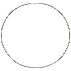 Damen Halsreif 925 Silber rhodiniert, 45 cm/2 mm, Bajonettverschluss, Omegareif
