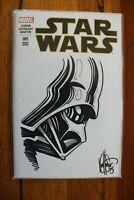Star Wars #1 Blank Variant Ken Haeser Darth Vader Original Comic Art Sketch NM+