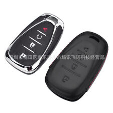 For Chevrolet Malibu 4 Buttons Remote Fob Bag Holder Leather Car Key Cover Case