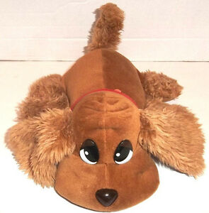 """Jakks Pacific 11"""" Brown Pound Puppy with Sound & Wagging Tail 2000 Fully Tested"""