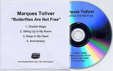MARQUES TOLIVER Butterflies Are Not Free UK 4trk promo test CD Bella Union