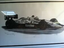 DAVID GREY ARTWORK MARIO ANDRETTI RACE CAR SIGNED BY GREY AND ANDRETTI 90 OF 500
