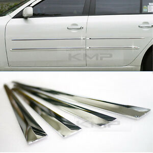Chrome Side Skirt Door Line Sill Cover Molding Garnish Trim 4Pcs for BUICK Car