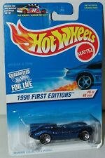 Hot Wheels 1998 First Editions 6/40 Jaguar D-Type #638 Laced Wheels Old BP Card