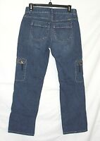 Simply Vera Wang Jeans Size 4 X 26 Straight Leg Womens Cropped Cargo Pockets