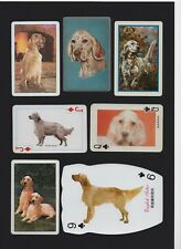 ENGLISH SETTER MOUNTED COLLECTION OF VINTAGE DOG PLAYING CARDS GREAT GIFT