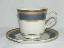 NEW MIKASA Imperial Lapis Coffee Cup & Saucer Set L2826 Lot of 2 Set Blue Marble
