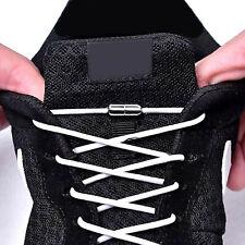 Elastische Schnürsenkel mit Metallkappe Schnell Verschluss Kinder Sport Schuhe