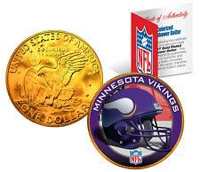 MINNESOTA VIKINGS NFL 24K Gold Plated IKE Dollar US Coin * OFFICIALLY LICENSED *