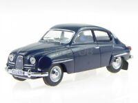 Saab 96 1964 blue Int. lightgrey diecast model car 43042 Triple9 1/43