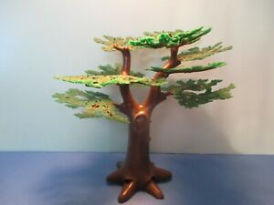 Playmobil TREE W/ STURDY TRUNK + 9 DARK GREEN LEAFY BRANCHES 3 different styles