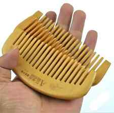 1X Natural Wide Tooth Peach Wood No-static Massage Hair Wood Comb Healthy Small
