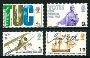 UNITED KINGDOM GREAT BRITAIN 1968 - Anniversaries - MNH