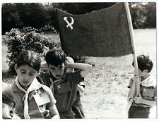 photo tirage18x24 circa 1960 jeunesse communiste - camps de vacances