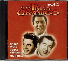 Los Tres Grandes Antonio Molina Juanito Valderama Farina  Vol 1   NEW SEALED CD
