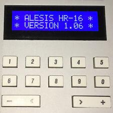 ALESIS HR-16 HR-16B & MMT-8 LCD DISPLAY - REPLACEMENT SCREEN - BLUE