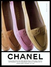 1994 Chanel women's moccasin shoes 4 colors photo vintage print ad