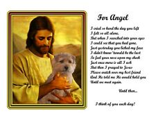 Norfolk Terrier Dog Memorial Picture w/Jesus/Poem Personalized w/Dog's Name-Pet