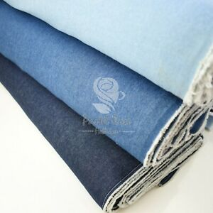 Washed DENIM 8oz 100% Cotton Fabric extra wide 58"