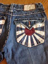 Laguana Beach Japan Stitch Rear Pocket Men's Denim Blue Jeans size 32 #57