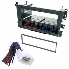 Radio Replacement Dash Mount Install Kit 1-DIN w/Pocket & Harness for Acura