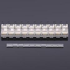 10 X High-quality Cat7 Crystals RJ45 Network Cable Connector Head + Tail Clamp