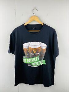 Guinness Men's Short Sleeve Crew T Shirt Size XL Black St Patricks Day Weekend