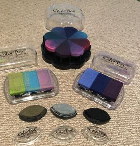 ColorBox Petal Point Pigment Option Pad x8 Colors Ink Option Pad x6 Brush Pad x3