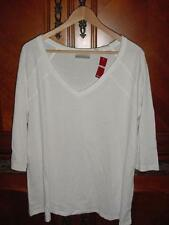 NWT AVENUE WHITE 3/4 SLEEVE COTTON TEE SHIRT TOP SZ 18 20 K64    NEW