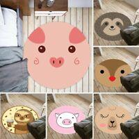 Funny Animals Face Non-slip Round Soft Area Rug Floor Carpet Door Mat Home Decor