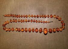 Old Amber Necklace Necklace Natural Amber Butterscotch Approx. 1.3oz Amber Ambre