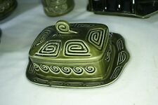 Green Sylvac Lidded Cheese Dish Pattern Number 3977