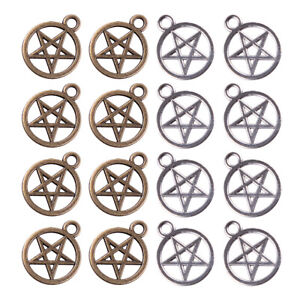 20x Pentagram Pentacle Wiccan Pagan Charms Pendants Beads 25x20mm Fashion Decor~