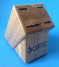 Cutco 4 Slot Knife Cutlery Block Wooden Oak Usa Made