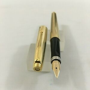 Parker 75 Imperial GOLD Plated FP 14k Fine Mint USA