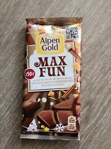 Alpen Gold Max Fun chocolate with explosive caramel,ginger,cinnamon Christmas