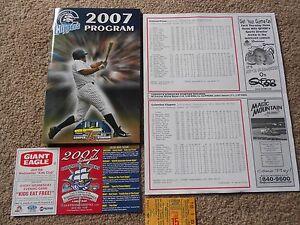 2007 Columbus Clippers Baseball Program Brandon Watson Arnie Munoz Insert Cards