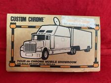 Custom Chrome Tour de Chrome Mobile Showroom Collectible Tractor- Trailer  (K2)