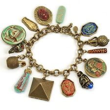 SWEET ROMANCE TUT TUT TUT EGYPTIAN CHARM BRACELET ~~USA MADE~~ BIG & BOLD