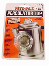 NEW TOPS FITZ ALL REPLACEMENT PERC PERCOLATOR GLASS TOP 13/16 to 1 1/12 135