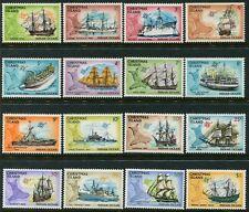 CHRISTMAS ISLAND - 1972 'SHIPS' Set of 16 MNH SG37-52 [B5726]