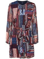 52/25 NEU ONLY Damen kurz Sommer Tunika Kleid onlGIZMO AOP L/S DRESS WVN Gr. 38