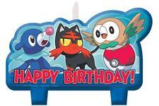 Amscan 171859 Bougie D'anniversaire Ensemble de Pokémon Core