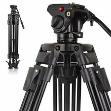 POLAM-FOTO Professional Video Tripod System Aluminum Alloy Heavy Duty Video