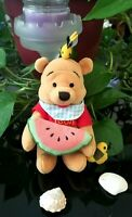 """Disney Winnie The Pooh With 2 Bees and Watermelon 9"""" Plush"""