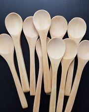 Premium 12 Piccoli cucchiai in legno di bambù Dessert Gelato Miele Kids Bambino Matrimonio