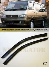 For Toyota Hiace (CH10) 1997-2002, Windows Visors Deflector Sun Rain Guard Vent